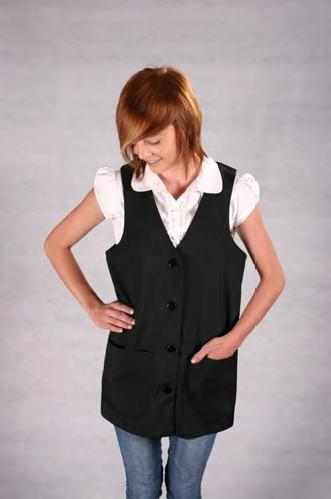 SALON STYLIST VEST, Polyester, 5 Buttons, 2 Pockets,