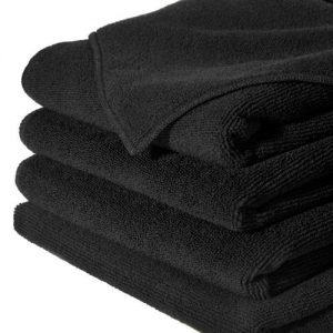 NEW! Salon Towel, Black,  100% Cotton, Bleach Resistant, 1 Dozen